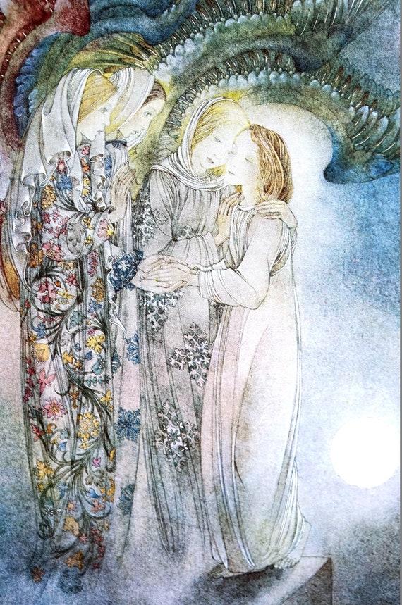 Sulamith Wulfing 2016 Calendar Print THREE ANGELS Comforting | Etsy