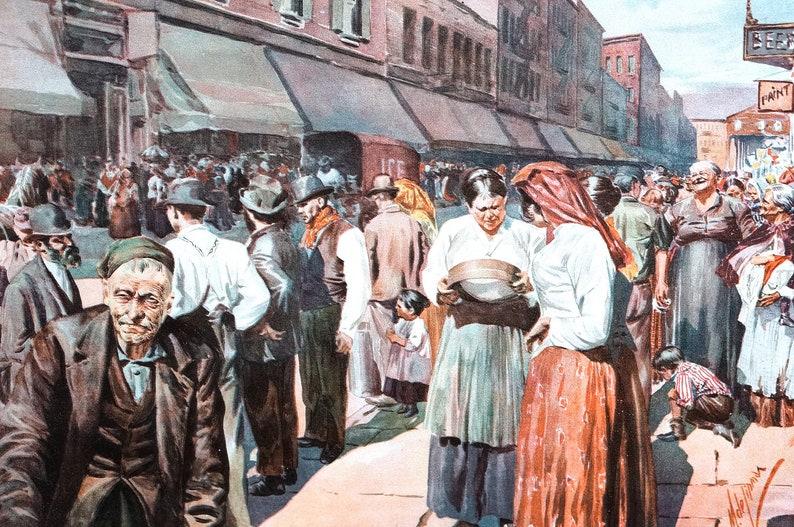 c32bbe99d Lower East Side Nueva York 1899 mercadillo Nueva York mercado