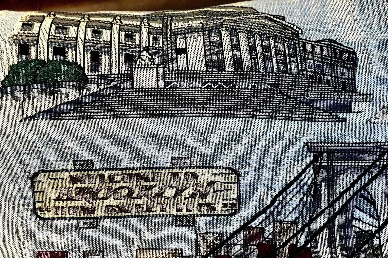 BROOKLYN LANDMARK AFGHAN conçu par toutes les choses Design exclusif 54 x 70 Coney Island Wonder roue Cyclone Prospect Park pont de Brooklyn