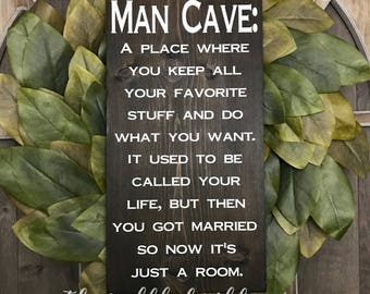 Man Cave,man Cave Sign,man Cave Wall Decor,man Cave Stuff,wedding  Gift,funny Signs,fathers Day Gift,gifts For Him,gifts For Dad,husband Gift