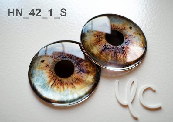METALLIC option Custom Glass perfect fit eyechips  by Yumi Camui Blythe Eye chips