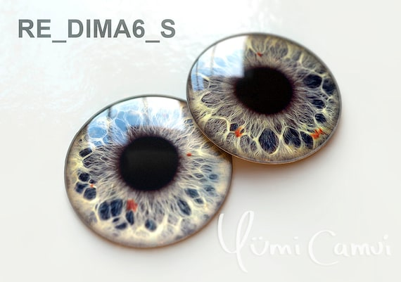 Custom Glass perfect fit eyechips  by Yumi Camui Blythe Eye chips