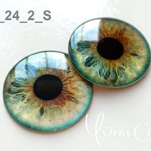 Super Realistic blue glass eyes Blythe eyechips J-0053