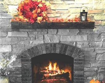 Custom Fireplace Mantel With Drop Front Shelf Media Storage