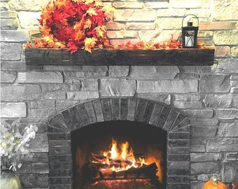 Fireplace Mantel Distressed Style