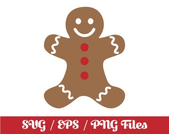 Gingerbread Man Svg Etsy