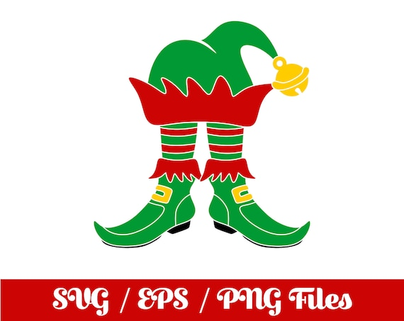 Christmas Shoe.Elf Svg Christmas Svg Christmas Elf Svg Elf Shoes Vector Elf Cut File Elf Circuit File Elf Silhouette