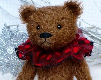 Artist made mohair bear, Nutmeg