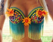 Rave Bra Day of the Dead Daisy Costume