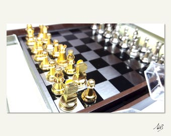 Vintage TRAVEL CHESS SET - New! - Dal Negro