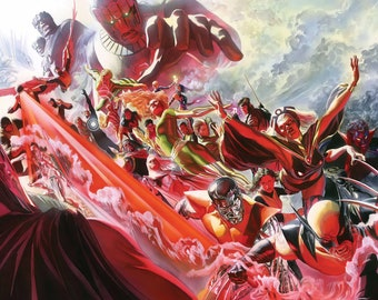 """Alex Ross Legacy silk canvas fabric poster 36/"""" x 24/"""" approx"""