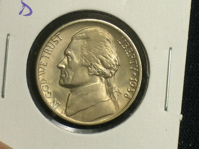 //// 1 Coin 1942-D *type 1* Jefferson Nickel //// Uncirculated //// Key Date 1