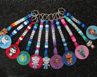 Octonauts Bag Tag Back to School Keychain Captain Barnacles Kwazii Peso Tweak Tunip Kindy Nursery Personalized Name Back to School Present