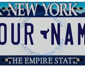 License Plate California Wave 3 Antique Classic Customizable 6 x 12 Aluminum Vanity License Plate