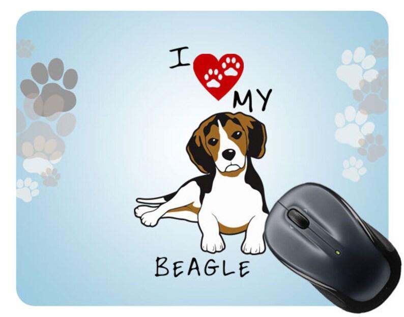 3a22d8e55a45 I Love My Beagle Dog Lover Square Mouse Pad