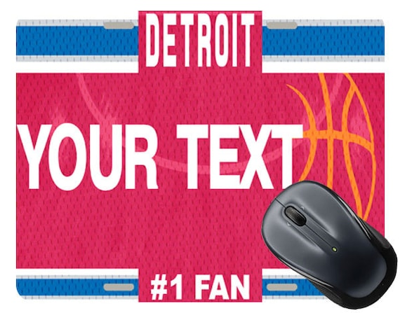 BRGiftShop Personalize Your Own Baseball Team Detroit Square Mouse Pad