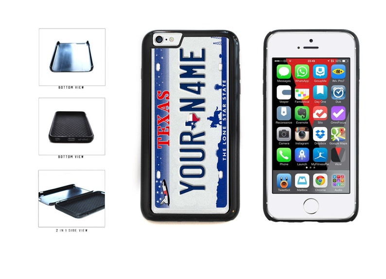 innovative design f5d7f d4736 Personalized Custom Texas License Plate Phone Case - IPhone 4 5 6 7 8 X  Plus Galaxy s3 s4 s5 s6 Edge s7 s8 Note 2 3 4 5 8