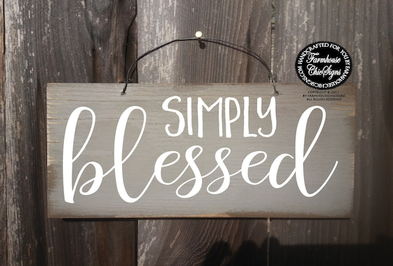 rustic simply blessed farmhouse chic sign fall decoration christian decor blessed sign farmhouse style decoration blessed wall decor