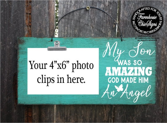 My Son Was So Amazing Rustic Photo Holder