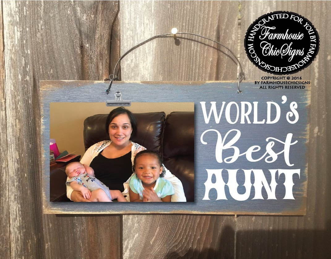 Gift For Aunt Worlds Best Picture Frame Christmas Birthday 39