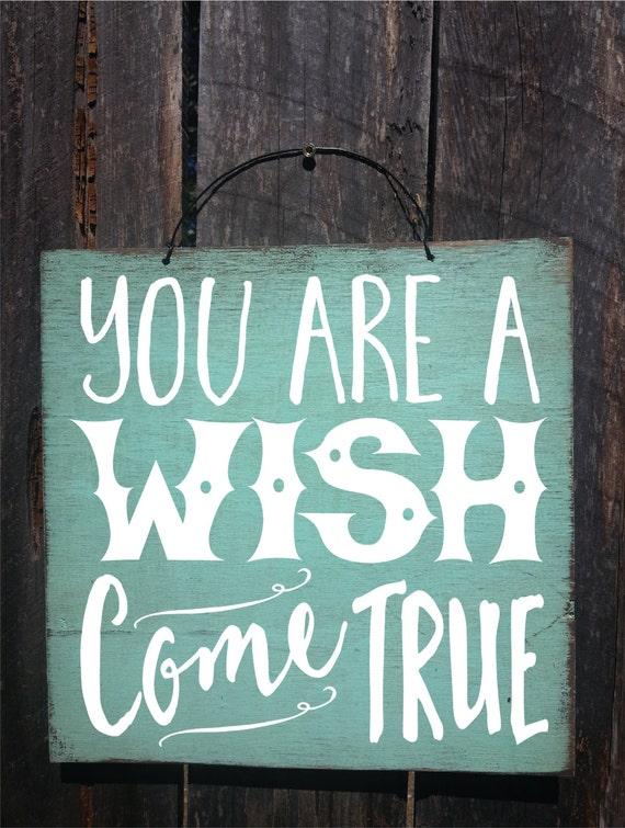 nursery decor, nursery wall art, wishes for baby, wish come true, dream come true, wish come true sign, nursery sign, baby sign