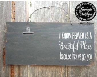 heaven sign, memorial gift, in loving memory, memorial, bereavement gift, in loving memory sign, in loving memory mom, in memory dad, 23