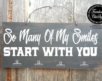 so many of my smiles start with you, anniversary gift, anniversary present, love, romantic gift, so many of my smiles sign