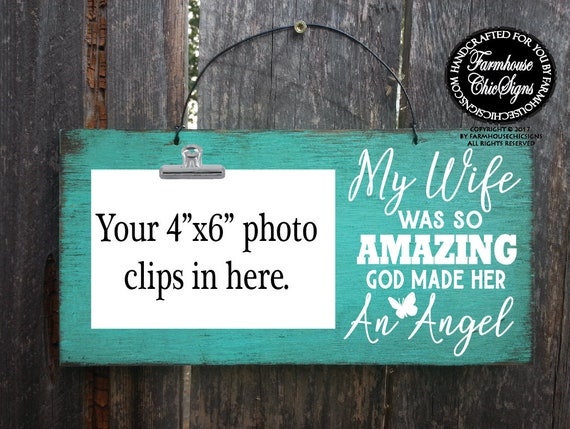 My Wife Was So Amazing Rustic Photo Holder