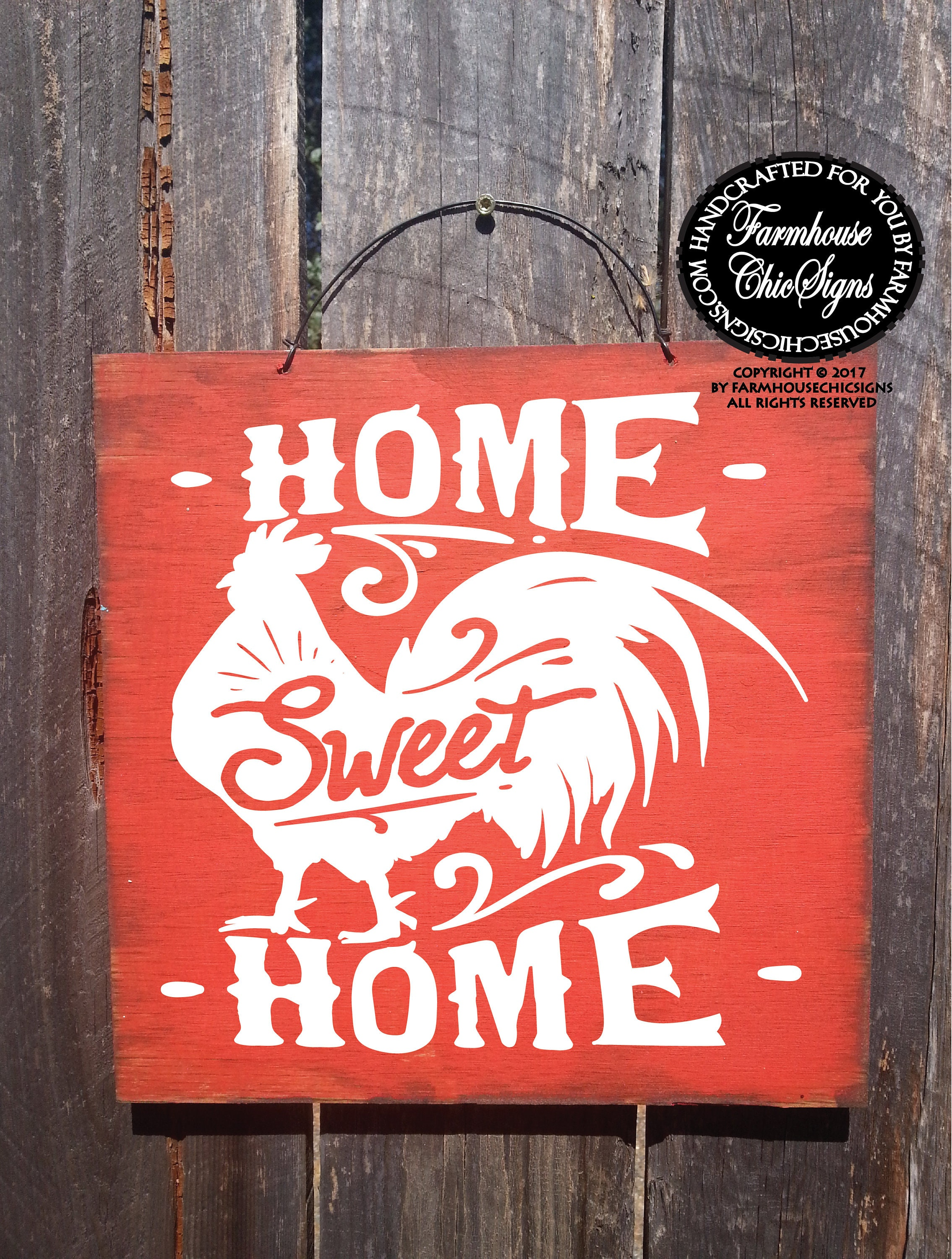 rooster decor farmhouse decor red rooster wall art kitchen ...