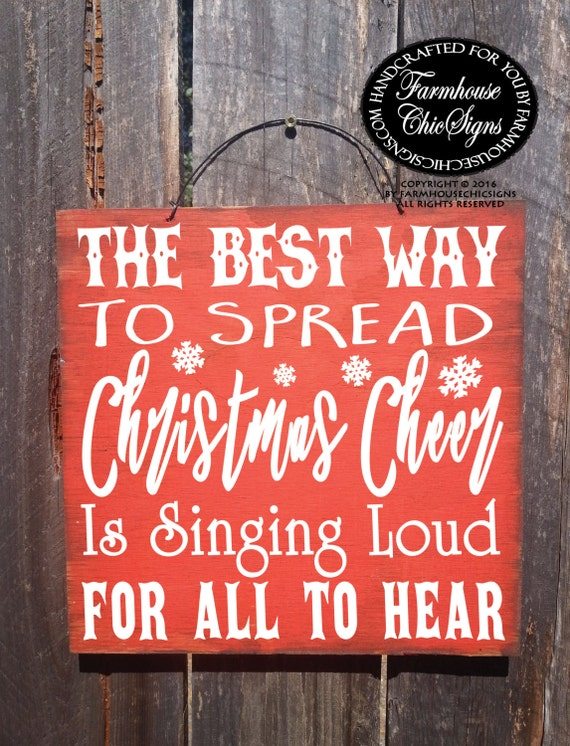 Elf quote, Christmas decoration, Christmas decor, Christmas sign, the best way to spread Christmas Cheer, Elf Christmas, Elf sign, 258/328