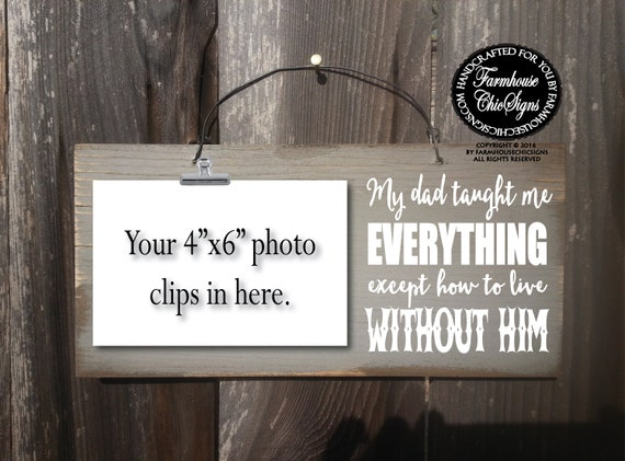 dad memorial gift rustic in memory of dad photo holder sympathy gift loss of dad remembrance in loving memory of dad funeral gift 328