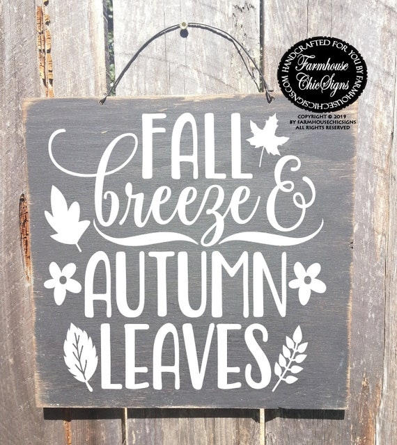 My Favorite Color Is Autumn Rustic Wood Sign