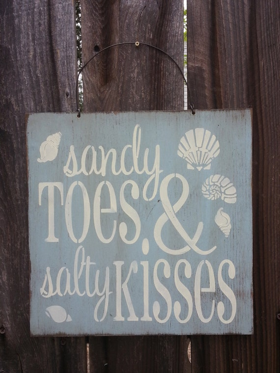 sandy toes salty kisses, beach sign, beach decor, beach house decoration