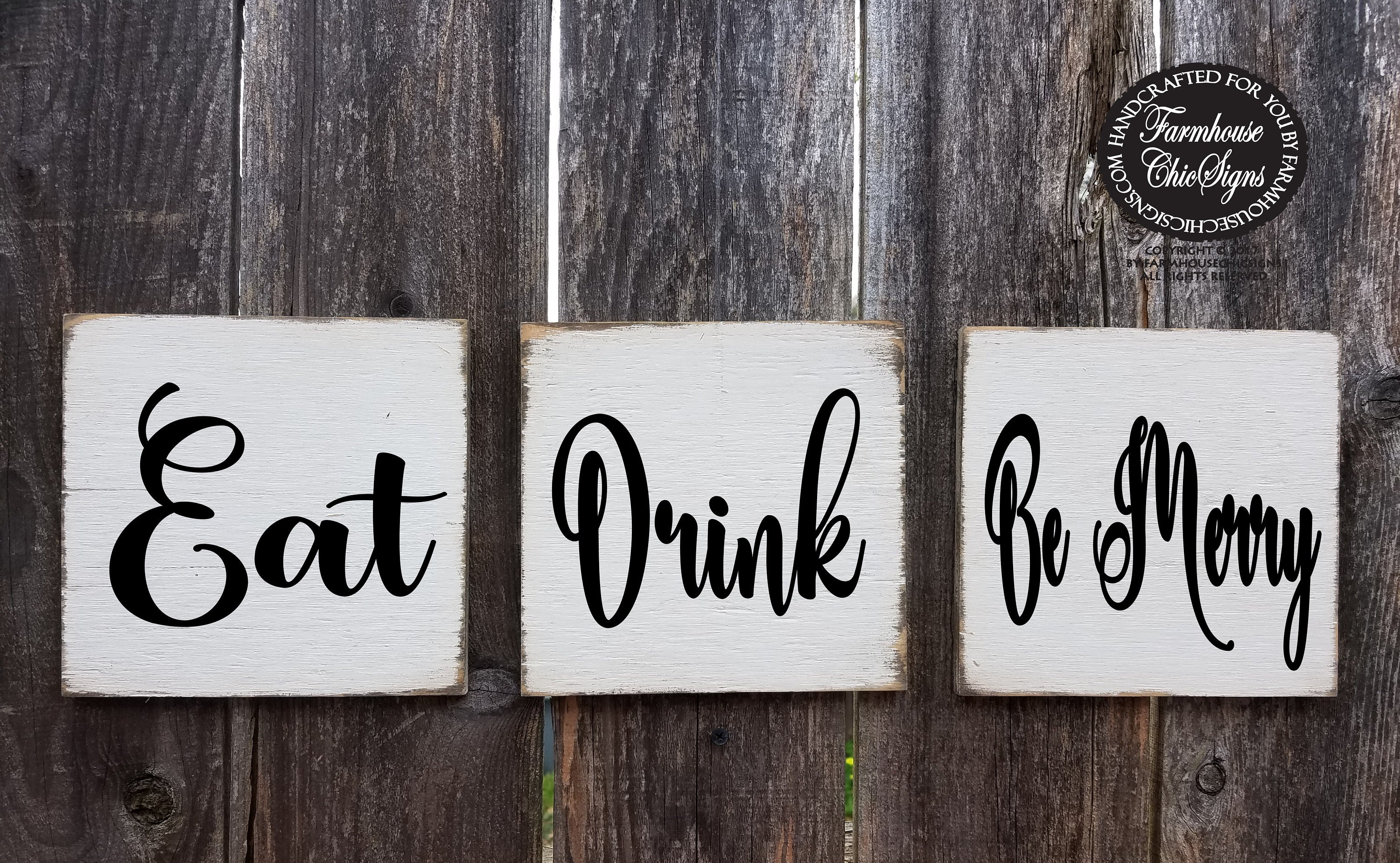Dining Room Decoration Kitchen Sign Eat Drink Be Merry Rustic Kitchen