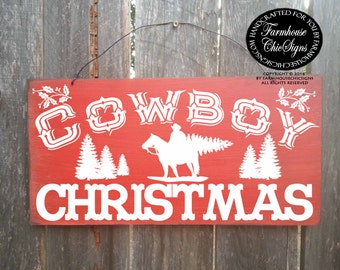cowboy christmas, cowboy decor, country western decor, country decoration, cowboy sign, christmas sign, Christmas decor, 261/188