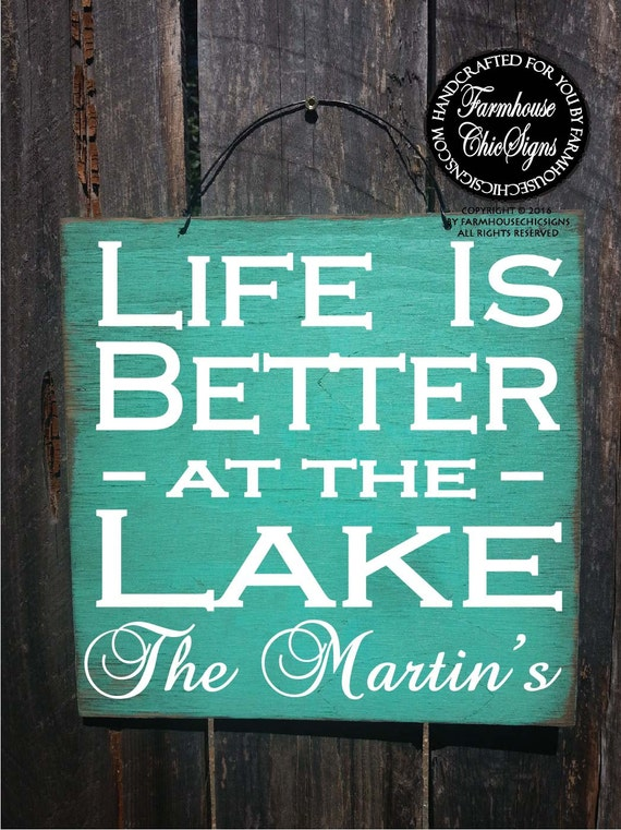 personalized lake sign, lake house sign, lake life, lake decor, lake house decoration, lake Tahoe, lake house wall art, lake decor, 345