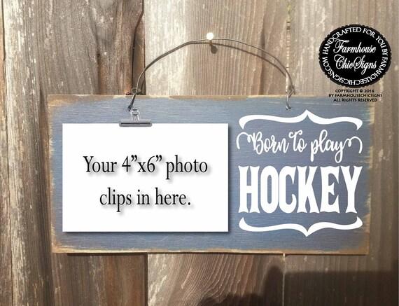 born to play hockey, hockey sign, hockey gift, gift for hockey player, field hockey, ice hockey, hockey decoration, hockey signs, 268