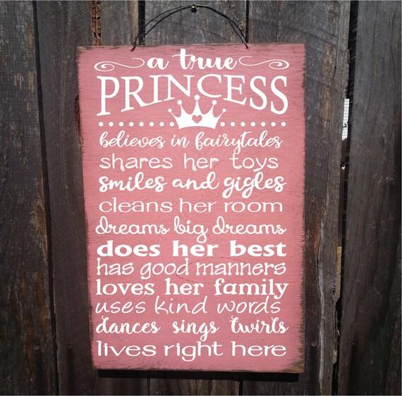 A True Princess Rustic Sign