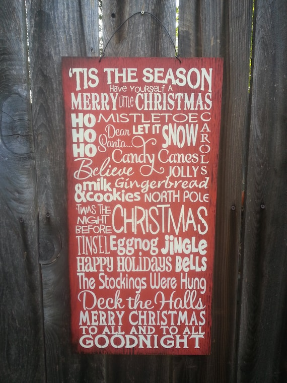 Christmas Sign, Christmas Decor, holiday Sign, christmas words Sign, holiday decor, seasonal decor, holiday sign, 145