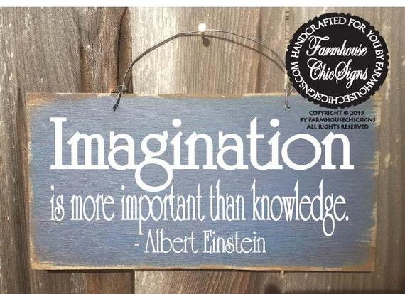 imagination, inspirational decor, inspirational sign, einstein quote, einstein art, einstein painting, einstein wall decor, 113
