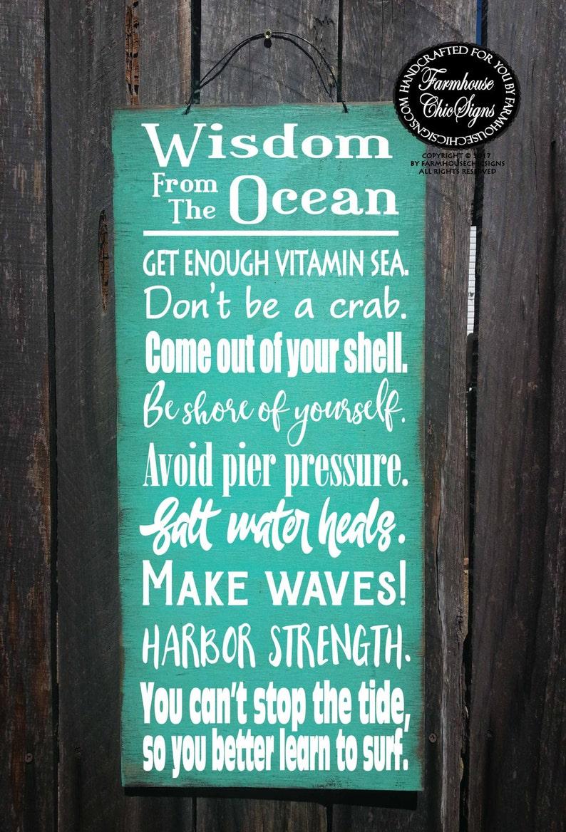 6a65ef244268 Beach decor beach house decoration ocean wisdom wisdom from