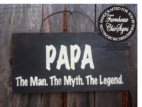 Papa Gift Papa Sign Papa The Man The Myth The Legend Etsy