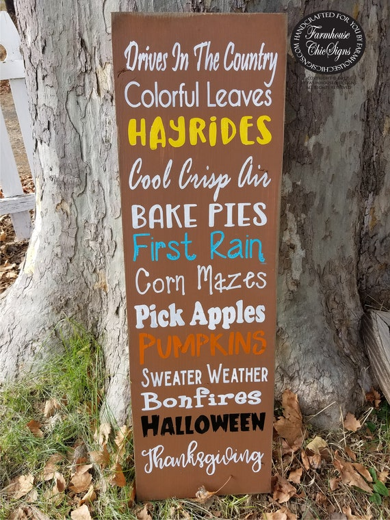 fall porch sign rustic wood porch decoration farmhouse style front porch decor fall signs porch sitter sign fall decoration