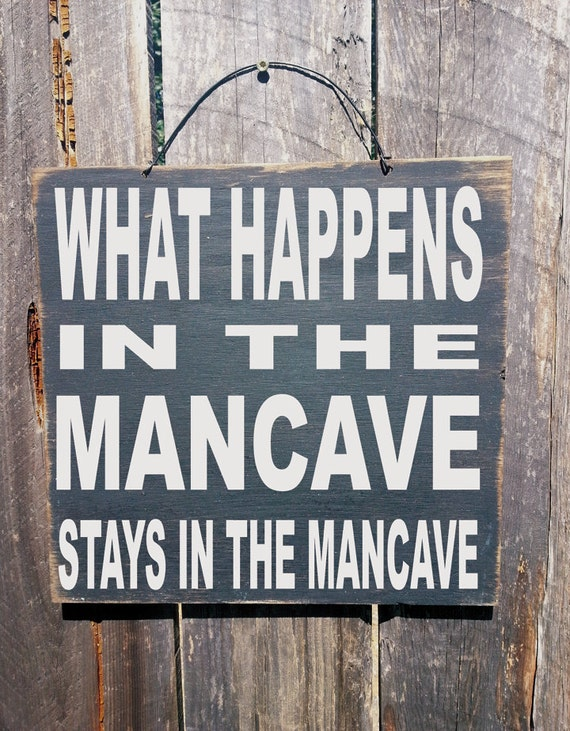 man cave decor, man cave, What Happens in the Mancave Sign, custom mancave sign, personalized mancave, 75/197