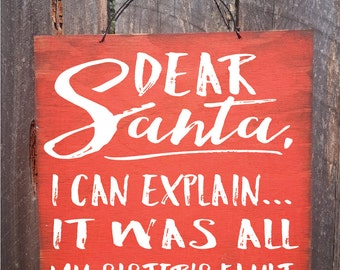 Christmas decor, Christmas decoration, Christmas wall art, Christmas wall decor, Santa Sign, Christmas sign, rustic Christmas decor, 148
