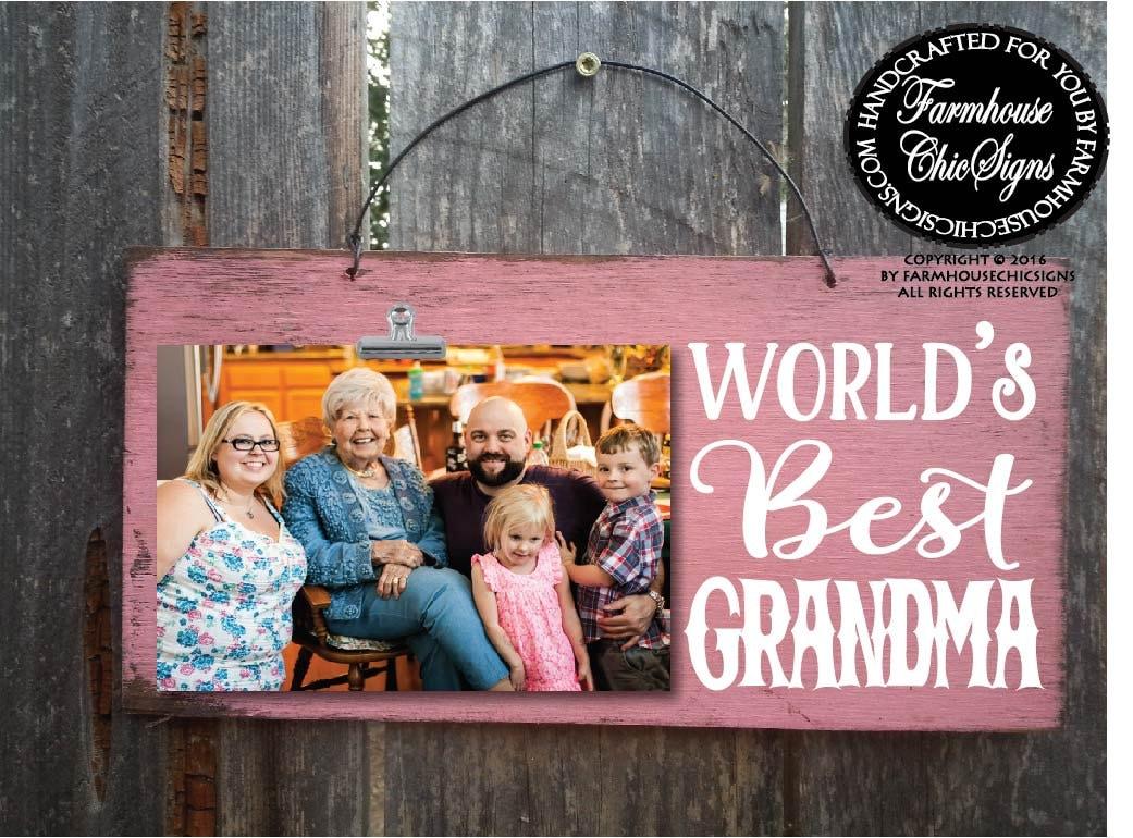 gift for grandma grandma gift world\'s best grandma | Etsy