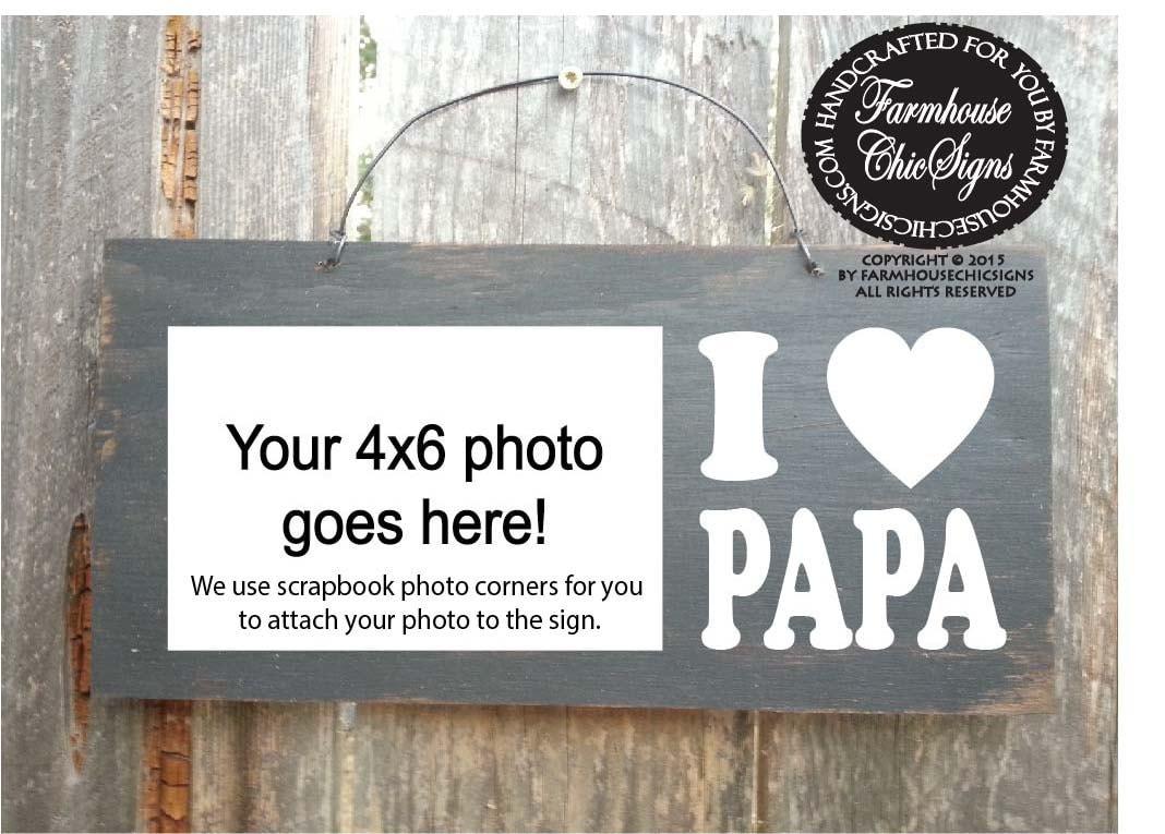 papa, papa gifts, gifts for papa, papa sign, papa picture frame ...