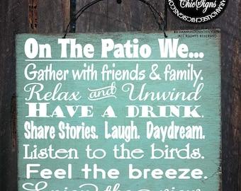 PATIO RULES, patio sign, patio decor, patio decoration, deck decor, outdoor living, outdoor life sign, patio decorations, 100.214/110.216