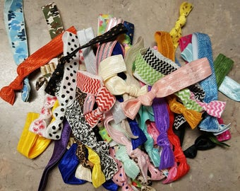 Clearance hair ties. Mixed lot of hair ties, ponytail holder.  Hair ties grab bag