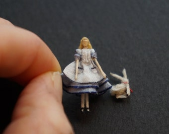 Made to Order: Miniature Alice in Wonderland Doll (Rabbit NOT Included)